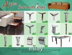Heavy Duty Stainless Metal Table Legs 16 Inch U Shape for Coffee Table Desk 2PC