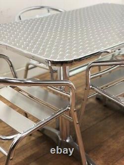 Heavy Duty Stainless Steel Inox Outdoor Garden Pub Bar Bistro 1100mm Table