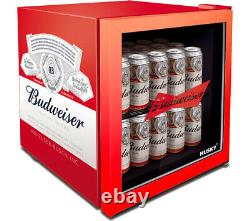 Husky Red Budweiser 46 Litre Mini Table Top Fridge Drinks Can Beer Drink Cooler