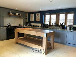 LARGE English OAK butchers block kitchen island table storage 6 feet x 3 feet