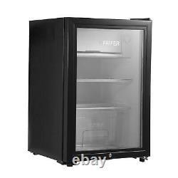 LED Table Top Fridge 65L Beer Wine Drinks Fridge Mini Refrigerator with Glass Door