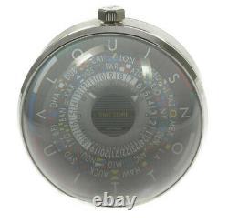 LOUIS VUITTON Escal table clock Q5Q000 World time Gray Dial Quartz 502636
