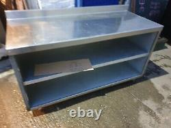 Lincat 1.5metre Food Prep Kitchen Catering Table Stainless Steel with 2 shelves