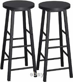 MDF Metal Breakfast Bar Table Set with 2 Bar Stools and 1 Bar Table for Kitchen