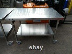 Mobile Bartlett B Line Stainless Steel Catering Prep Table 1200mm £140 + Vat