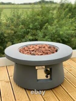Modern Fire Pit Table Concrete Regulator, Hose & Cover! Electronic Ignition