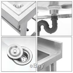 Movable Stainless Steel Kitchen Sink Utility Outdoor Kitchen Washing Basin UK