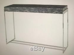 NEW Astley/Green Gianna Marble, Glass and Stainless Steel Console £320(RRP £609)