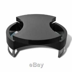 NEW Coffee Table Side Table Shape-adjustable High Gloss White/Black Selectable