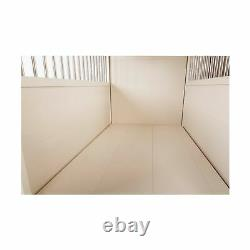 New Age Pet Crate End Table Ecoflex Stainless Steel Antique White EHHC404S New