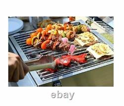 Nexgrill 2-Burner Portable Propane Gas Table Top BBQ Grill in Stainless Steel