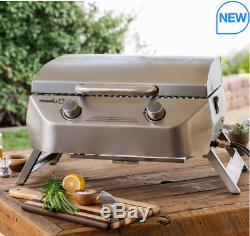 Nexgrill 2 Burner Stainless Steel Table Top Gas Barbecue-1,619 cm² Cooking Area