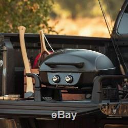 Nexgrill Fortress 2 Burner Cast Aluminium Table Top Gas Grill BBQ rz160