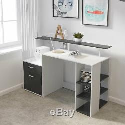 Office Computer Desk with Drawers Wood Study Workstation PC Laptop Dining Table
