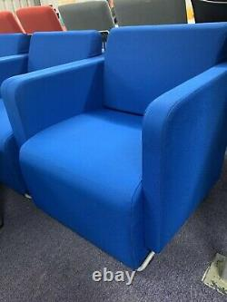 Office Sofa Reception Suite (4 Chairs And Coffee Table) £250 Set