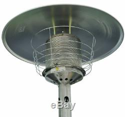 Outsunny 4KW Table Top Gas Patio Heater Stainless Steel Garden Heating Heat Fire