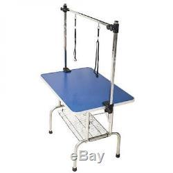 Pet Dog Grooming Table Folding Bath Height Top 36 Non Slip 2 Arm Adjustable BTM