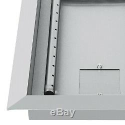 Propane Gas Fire Pit Burner Pan 25.5 x 10 (25 x 65cm) Patio Heater Burner