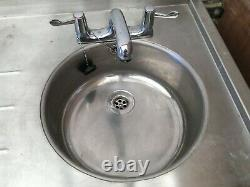 Quality Stainless Steel Commercial Sink / Prep Table With Storage