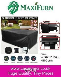 Rattan 9 8 7 Seater Outdoor Corner Sofa Dining Table Set Garden Furniture Grey