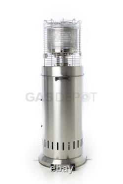Real Glow Bullet Patio Heater 13kw Table Floor Stainless Steel