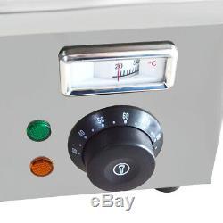 Restaurant 8-Pan Food Warmer 110V Bain Marie Buffet Steam Table Large Capacity