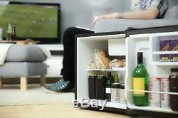 Russell Hobbs 45 Litre Table Top Mini Fridge with Ice Box, Black Cooler RHTTLF1B