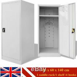 Saddle Office Cabinet Steel Horse Tack Shelves Storage Organizer Locker Cupboard