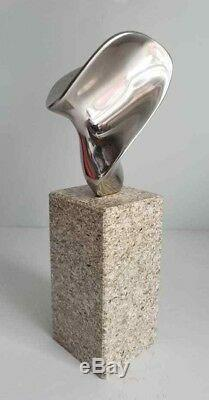 Signed Jack Arnold Modernist Biomorphic Stainless Steel Abstract Art Sculpture