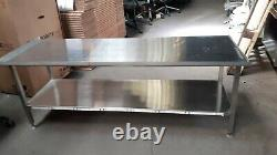 Solid Stainless Steel Prep Table Work Surface- Heavy Duty, Not Wobbly