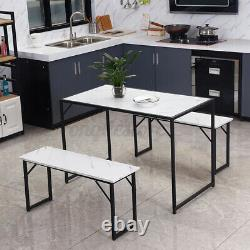 Solid Wood Dining Table Chairs 2 Bench Chair Set Kitchen Dining Room Furniture
