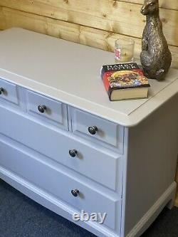 Stag Chest Of Drawers With Detachable Mirror / Sideboard/ Dressing Table