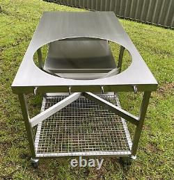 Stainless Steel BBQ Table For Big Green Egg Ect