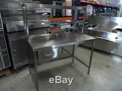 Stainless Steel Catering Prep Table with Heated Gantry Shelf 1300 mm £250 + Vat