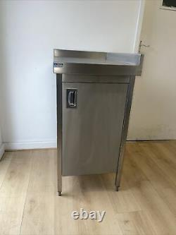 Stainless Steel Catering Table With Cupboard, Used, High Quality, Kitchen