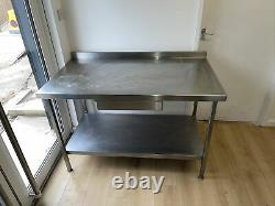 Stainless Steel Catering Table With Draw & Shelf, Heavy Duty, Used, Kitchen