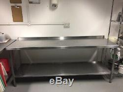 Stainless Steel Commercial Catering Table Work Bench Kitchen 210 X 70 X 90cm