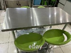 Stainless Steel Commercial Catering Table Work Bench Kitchen 2 x4 1.2m Long