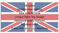 Stainless Steel Garden Outdoor Patio Heater Table Top Gas 4KW Outdoor FreeAttach