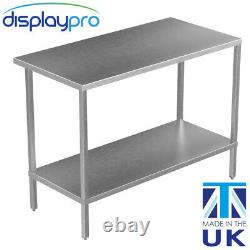 Stainless Steel Kitchen Table Adjustable Shelf Heavy Duty Commercial Catering