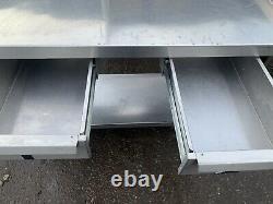 Stainless Steel Prep Table, 2 Draws 180(L) x 60(D) x 85(H)cm Splash Back