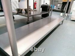 Stainless Steel Prep Table With Undershelf & Backsplash