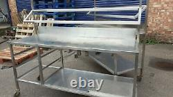 Stainless Steel Prep Table Work Surface Bench Kitchen Restaurant Catering