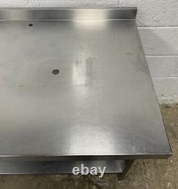 Stainless Steel Preparation Table With Corner Upstand 1500 MM Wide £140 + Vat