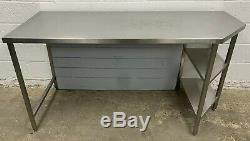 Stainless Steel Preparation Table With Shelf Unit 1825 MM Wide £170 + Vat