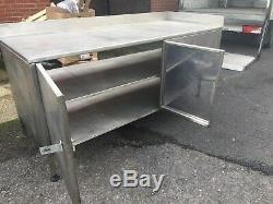 Stainless Steel Storage Cupboard Bench Table Work Catering Workshop Garage