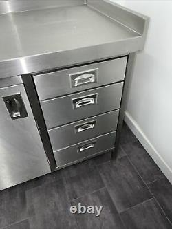 Stainless Steel Table Cupboard With 4 Draws, High Quality, Used, Kitchen