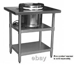 Stainless Steel Top Rice Cooker Warmer Stand Table 32 x 24 with Two Undershelf