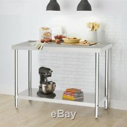 Stainless Steel Work Bench Commercial Catering Table Kitchen Worktop 2ft to 6ft