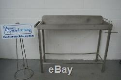 Stainless steel table sausage linking table food prep sink 164cm x 54cm x120cm H